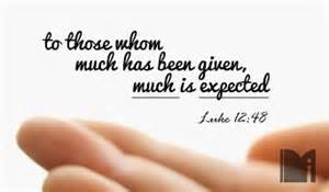Image result for those given much much is expected scripture