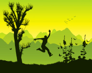 stock-illustration-3751722-leap-of-joy-in-the-mountains